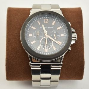 MICHAEL KORS Stainless Logo Chronograph Watch